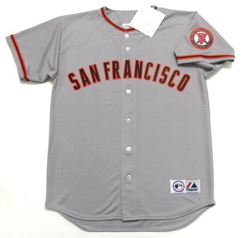 J.T. SNOW San Francisco Giants 2002 Away Majestic Baseball Throwback Jersey - FRONT
