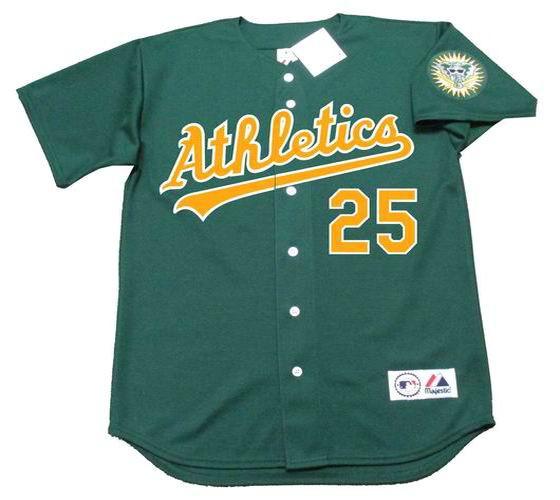 the best attitude 3838c 56318 MARK MCGWIRE Oakland Athletics 1996 Alternate Majestic Baseball Throwback  Jersey