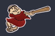 KEN CAMINITI San Diego Padres 1997 Alternate Majestic Baseball Throwback Jersey - SLEEVE CREST