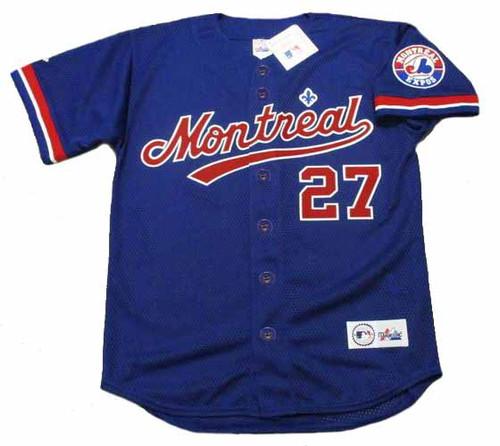 VLADIMIR GUERRERO Montreal Expos 2002 Majestic Baseball Throwback Jersey - FRONT