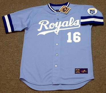 BO JACKSON Kansas City Royals 1989 Away Majestic Baseball Throwback Jersey