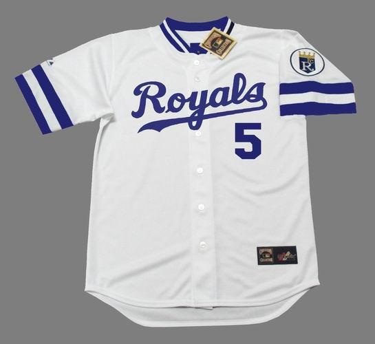 GEORGE BRETT Kansas City Royals 1985 Majestic Cooperstown Home Baseball Jersey