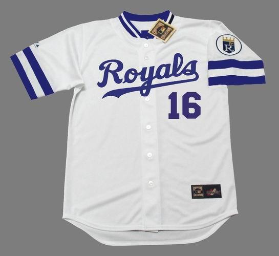 BO JACKSON Kansas City Royals 1989 Home Majestic Baseball Throwback Jersey