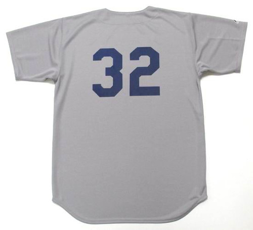 SANDY KOUFAX Los Angeles Dodgers 1965 Away Majestic Baseball Throwback Jersey - BACK
