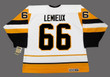 MARIO LEMIEUX Pittsburgh Penguins 1992 Home CCM Vintage NHL Throwback Jersey - BACK