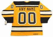 BOSTON BRUINS 2010 CCM Winter Classic Vintage Custom Hockey Jerseys - BACK