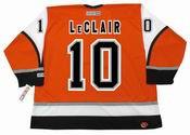 JOHN LeCLAIR Philadelphia Flyers 2003 CCM Throwback Alternate NHL Hockey Jersey