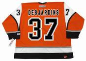 ERIC DESJARDINS Philadelphia Flyers 2003 CCM Throwback Alternate NHL Hockey Jersey