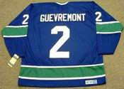 JOCELYN GUEVREMONT Vancouver Canucks 1972 CCM Vintage Throwback Jersey