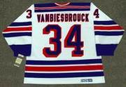 JOHN VANBIESBROUCK New York Rangers 1985 CCM Vintage Home NHL Hockey Jersey