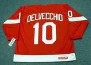 1960's Home CCM Throwback ALEX DELVECCHIO Detroit Red Wings Jersey - BACK