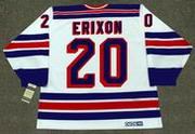 JAN ERIXON New York Rangers 1983 CCM Vintage Home NHL Hockey Jersey