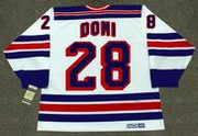 TIE DOMI New York Rangers 1991 CCM Vintage Home NHL Hockey Jersey