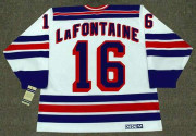 PAT LAFONTAINE New York Rangers 1997 Home CCM Throwback NHL Hockey Jersey - BACK