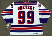 WAYNE GRETZKY New York Rangers 1996 Home CCM NHL Vintage Throwback Jersey - BACK
