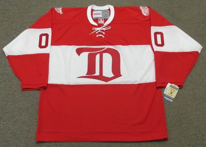 DETROIT RED WINGS 1920 s CCM Vintage Alumni Jersey Customized