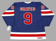 1991 New York Rangers CCM Throwback ADAM GRAVES Retro hockey jersey - BACK