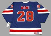 TIE DOMI New York Rangers 1991 CCM Vintage Throwback NHL Hockey Jersey