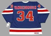JOHN VANBIESBROUCK New York Rangers 1991 CCM Vintage NHL Hockey Jersey