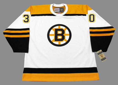 BERNIE PARENT 1966 CCM NHL Throwback Boston Bruins Away Jerseys - FRONT