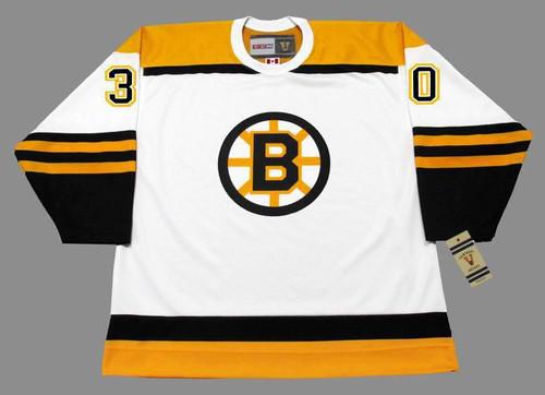 BERNIE PARENT 1966 CCM NHL Throwback Boston Bruins Away Jerseys - FRONT