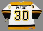 BERNIE PARENT 1966 CCM NHL Throwback Boston Bruins Away Jerseys - BACK