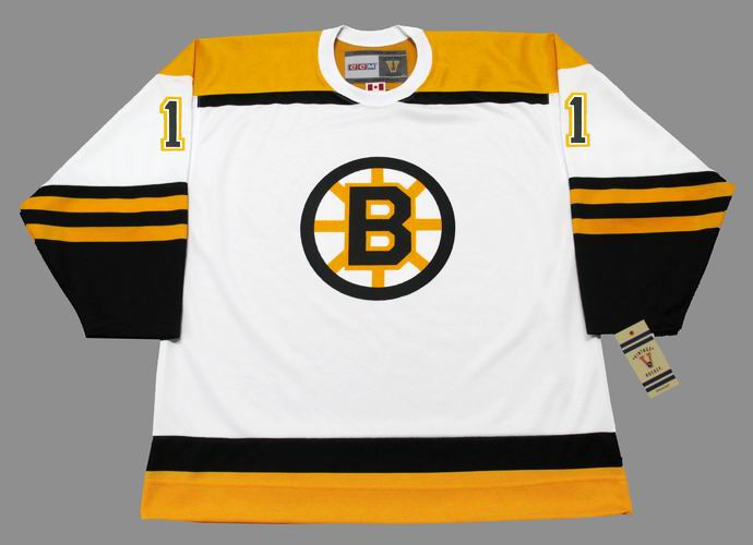 sports shoes 99fff 2ab56 EDDIE JOHNSTON Boston Bruins 1966 CCM Vintage Throwback Away NHL Hockey  Jersey