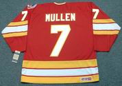 JOE MULLEN Calgary Flames 1989 CCM Vintage Throwback Away NHL Hockey Jersey