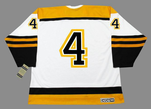 BOBBY ORR 1966 CCM NHL Throwback Boston Bruins Away Jerseys - BACK
