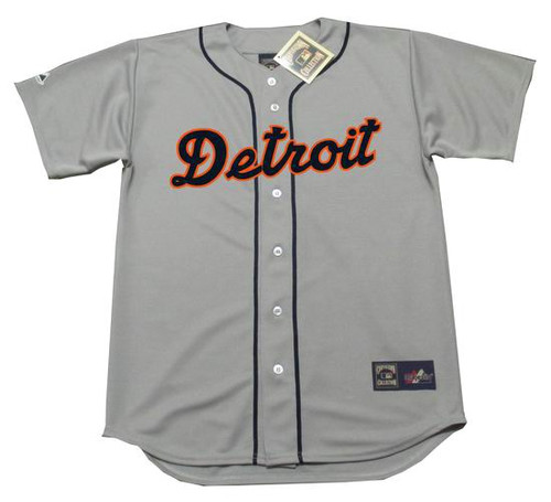 Al Kaline 1955 Detroit Tigers Majestic MLB Away Throwback Jersey - Front