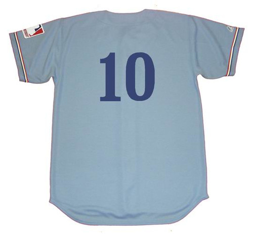 RUSTY STAUB Montreal Expos 1969 Away Majestic Baseball Throwback Jersey - BACK
