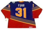 GRANT FUHR St. Louis Blues 1996 Away CCM NHL Vintage Throwback Jersey