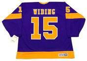 192f6f8d3 JUHA WIDING Los Angeles Kings 1974 CCM Vintage Away NHL Hockey Jersey