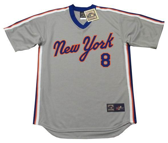 sale retailer 24f08 a149d GARY CARTER New York Mets 1987 Majestic Cooperstown Away Baseball Jersey
