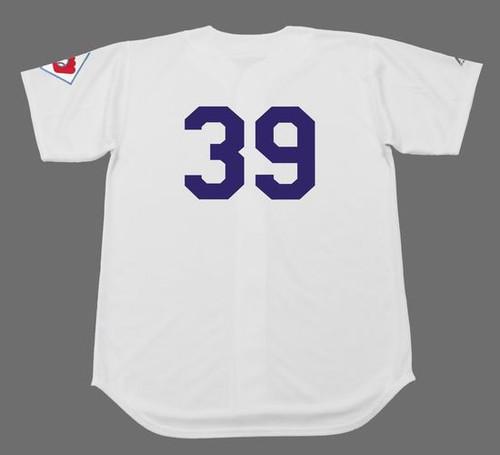 ROY CAMPANELLA Brooklyn Dodgers 1951 Home Majestic Baseball Throwback Jersey - BACK