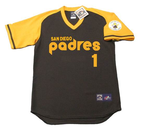 wholesale dealer e046c aa7e5 OZZIE SMITH San Diego Padres 1978 Away Majestic Baseball Throwback Jersey