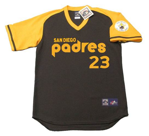 ADRIAN GONZALEZ San Diego Padres 1978 Majestic Cooperstown Vintage Baseball Jersey - FRONT