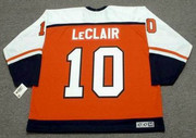 JOHN LeCLAIR Philadelphia Flyers 1997 CCM Throwback Away NHL Hockey Jersey - Back