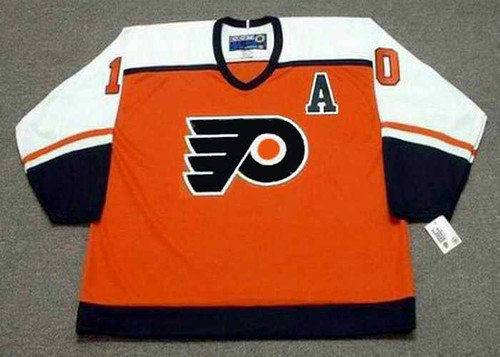 JOHN LeCLAIR Philadelphia Flyers 1997 CCM Throwback Away NHL Hockey Jersey - Front