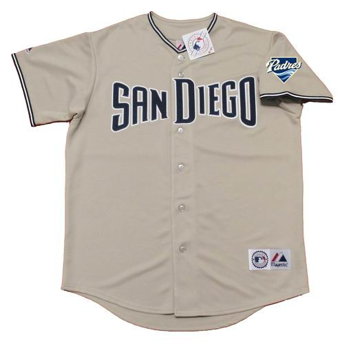new products e0288 1c55c MIKE PIAZZA San Diego Padres 2006 Majestic Throwback Away Baseball Jersey