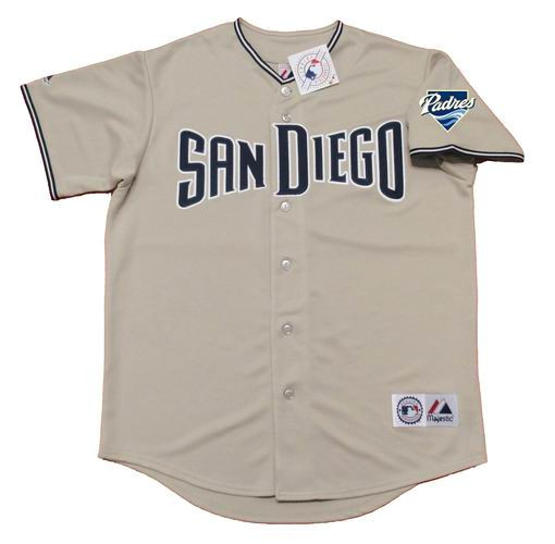the best attitude 393c5 a2582 JAKE PEAVY San Diego Padres 2007 Majestic Throwback Away Baseball Jersey