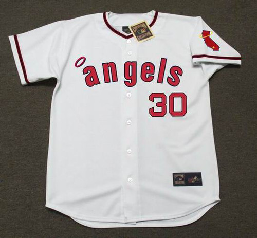 NOLAN RYAN California Angels 1972 Home Majestic Baseball Throwback Jersey - FRONT