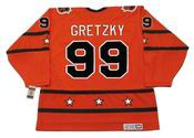 "WAYNE GRETZKY 1980 CCM Vintage Throwback NHL ""All Star"" Hockey Jersey - BACK"