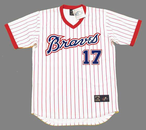 """ANDY """"CHANNEL"""" MESSERSMITH Atlanta Braves 1976 Home Majestic Throwback Baseball Jersey - FRONT"""