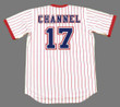 """ANDY """"CHANNEL"""" MESSERSMITH Atlanta Braves 1976 Home Majestic Throwback Baseball Jersey - BACK"""