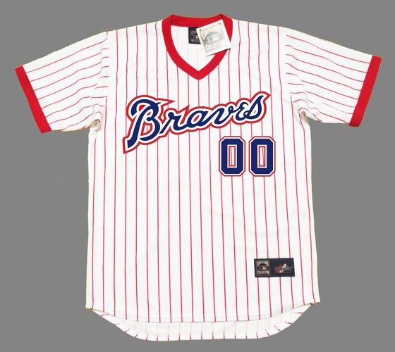 size 40 8dee8 f867d ATLANTA BRAVES 1976 Home Majestic Throwback Jersey Customized