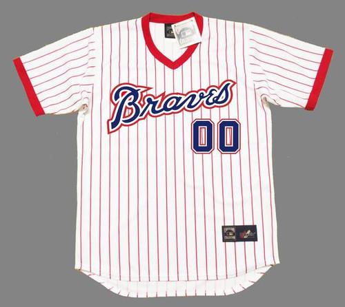 ATLANTA BRAVES 1976 Home Majestic Throwback Custom MLB Jerseys - FRONT
