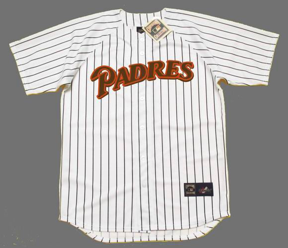 best service 0cb0a c2a29 JOE CARTER San Diego Padres 1990 Majestic Cooperstown Throwback Home Jersey