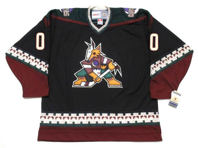brand new ba7b6 19c34 PHOENIX COYOTES 1990's CCM Vintage NHL Jersey Customized