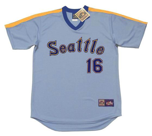AL COWENS Seattle Mariners 1984 Majestic Cooperstown Retro Baseball Jersey - FRONT